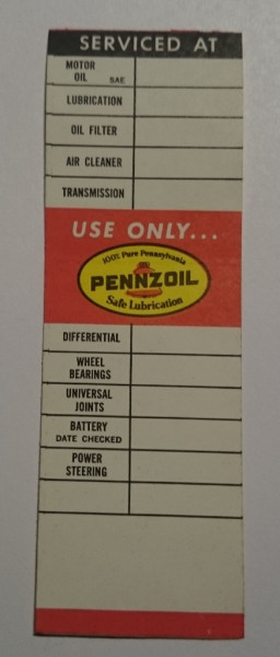 Serviceaufkleber Pennzoil, Use Only ...