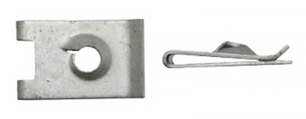 Blechmutter, galv. verzinkt, 6,3mm (10 Stk.)