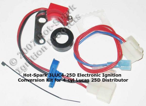 Elektronische Zündung für Lucas 4 Zylinder Verteiler 25D4