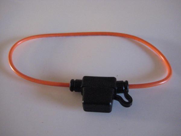 Mini-Flachstecksicherungshalter m. Kabel, spritzwassergeschützt