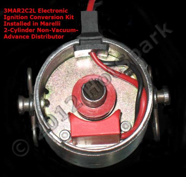 Elektronische Zündung für Magneti Marelli 2 Zylinder Verteiler
