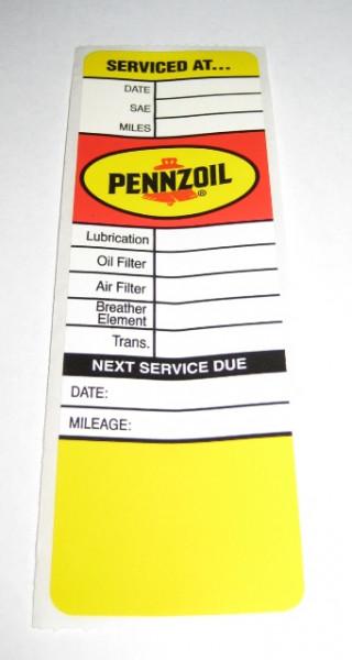 Serviceaufkleber Pennzoil, Full Service