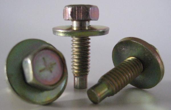"""Karosserieschraube 5/16""""-18 UNC 27 mm lang, m. 22 mm Scheibe (5 Stk.)"""
