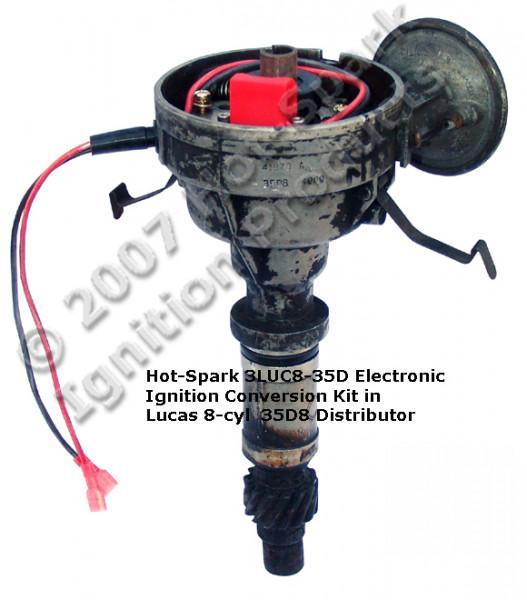 Elektronische Zündung für Lucas 8 Zylinder Verteiler 35D8