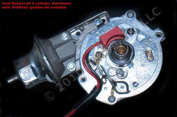Elektronische Zündung für Ford 4 Zylinder Verteiler m. Unterduck-Verstellung