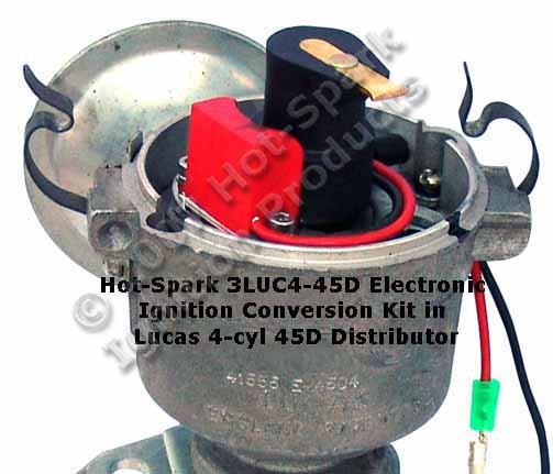 Elektronische Zündung für Lucas 4 Zylinder Verteiler 45D4