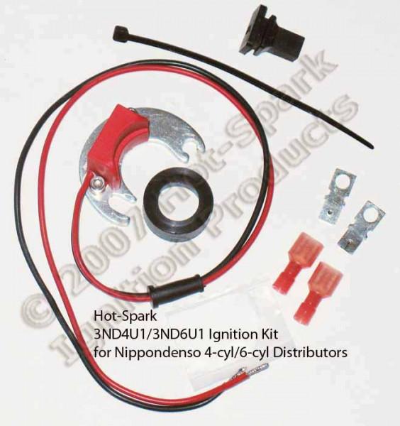 Elektronische Zündung für Nippon-Denso 6 Zylinder Verteiler mit U-Druck Verstellung