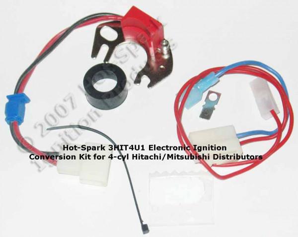 Elektronische Zündung für Hitachi 6 Zylinder Verteiler mit rechts angesch. Kontakt