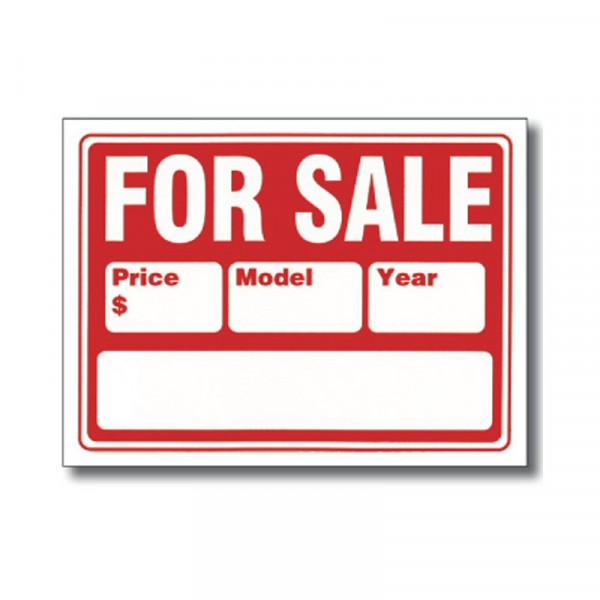 """For Sale"" Autoverkaufs-Schild, groß"