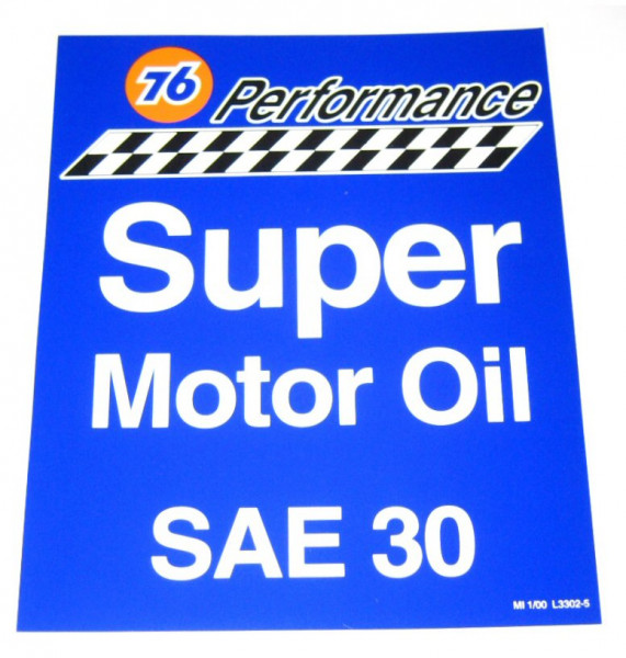 Aufkleber 76 Performance Super Motor Oil